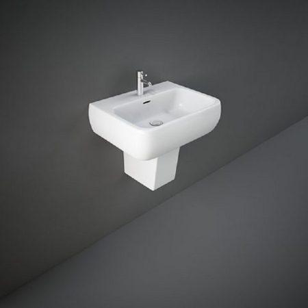 Wash Basin | Half Pedestal White | METROPOLITAN RAK