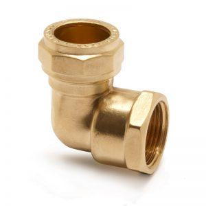 Brass Female Elbow 28MMX1″ | PEGLER UK -