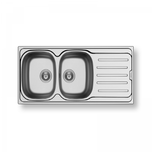 Vera (116X50) 2B 1D Stainless Steel Sink | PYRAMIS -