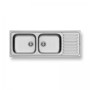 Profondo (150X60) 2B 1D Stainless Steel Sink | PYRAMIS -