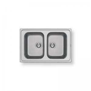Athena Extra (86X50) 2B Stainless Steel Sink | PYRAMIS -