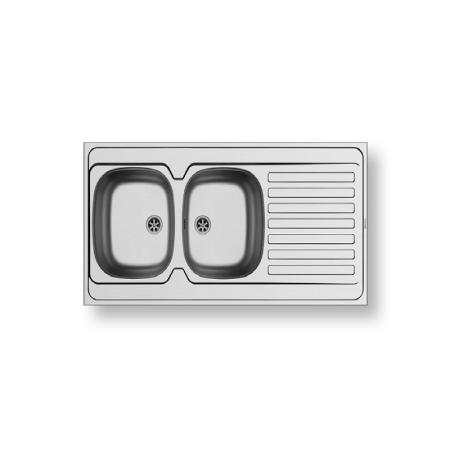 International (120X60) 2B 1D Stainless Steel Sink | PYRAMIS