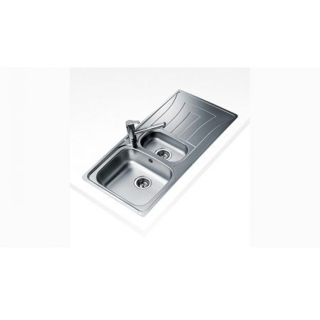 Universo 1½ B 1D Inset Stainless Steel Sink One bowl and One drainer (100 X 50)CM