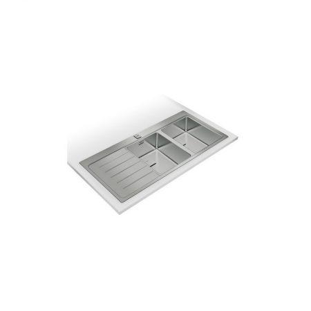 Zenit R15 2B 1D Inset Stainless Steel Sink | TEKA