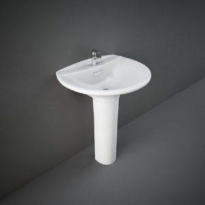 Wash Basin Pedestal White VENICE RAK -