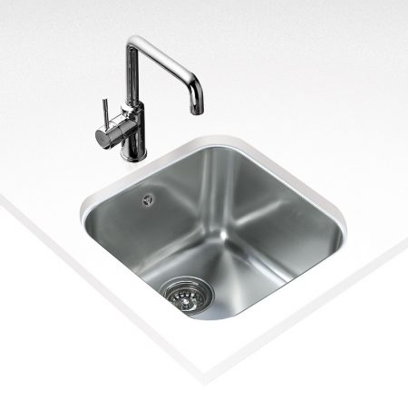 Undermount Stainless Steel Sink with one bowl (43X43)CM