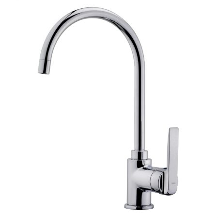 Kitchen Tap Mixer with high swivel spout and anti-scale aerator