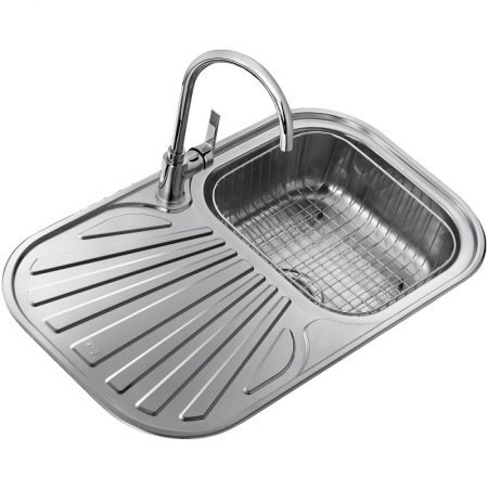 Inset Stainless Steel Sink with one bowl (83X48)CM