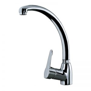 Single Lever Kitchen Tap with high and swivel spout -