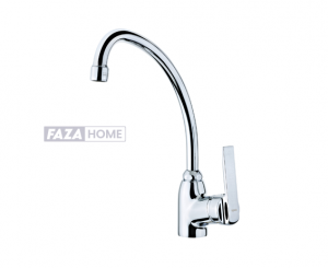 Single Lever Kitchen Tap Teka with high spout and anti-scale areator -