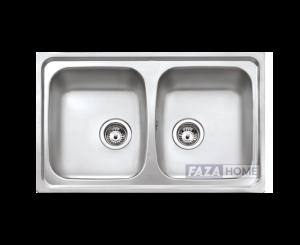Inset reversible sink Teka with matt finish in 80 cm -