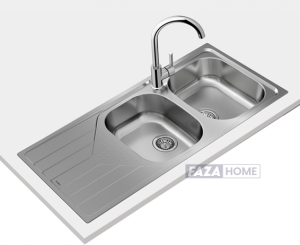 Inset reversible stainless steel sink Teka in 80 cm -