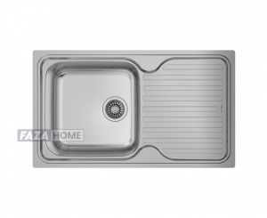 Inset Stainless Steel Sink Teka with one bowl and one drainer -