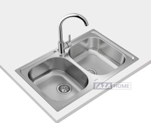Inset stainless steel sink Teka in 80 cm -